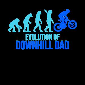 Downhill Evolution Papa Fahrrad Geschenk