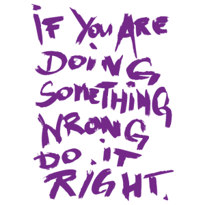 if you are doing something - hazy purple