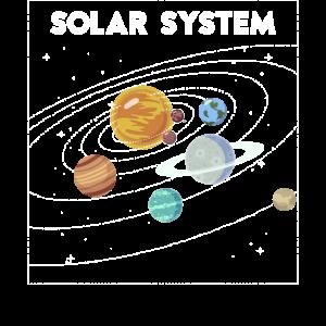 Weltraumwissenschaft Geschenkgrafik Sun Moon Stars