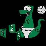 Baby T-Rex Dino mit Ball und Würfel