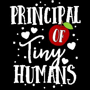 Schulleiter von Tiny Humans TShirt Teacher Apple