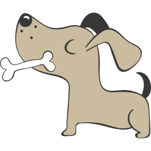 Lustiger Hund im Comicstyle
