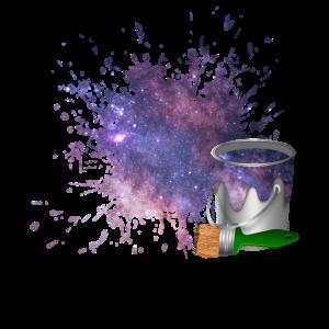 Farbe Weltraum Space Kosmos Universum Farbklecks