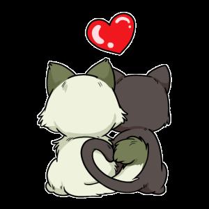 Katzen Liebe Liebe Romantik Valentinstag Freunde