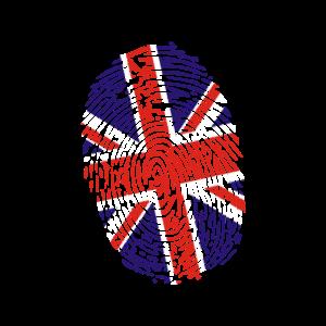 United Kingdom Fingerabdruck Flagge UK Union Jack