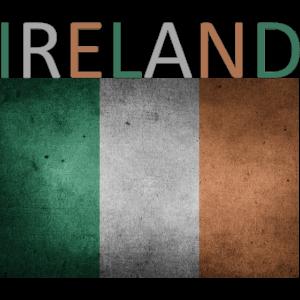 Irland Flagge - Kunstdesign