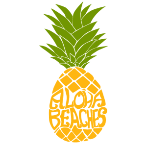 Ananas Aloha Strand Sommer Frucht Hawaii Geschenk