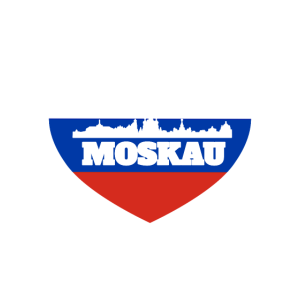 Herz Moskau Silhouette Russland Fahne Geschenk