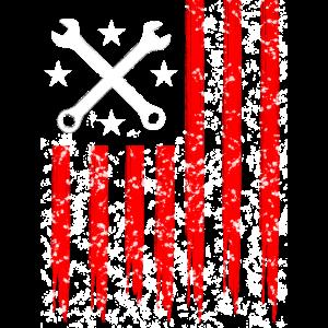 US Car-Flagge
