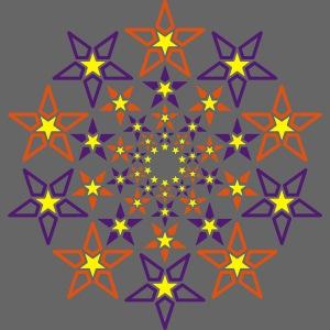 Fractal Star 3 color neon