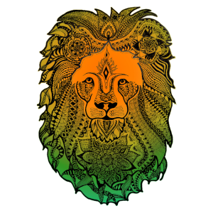 Löwenkopf Löwen Mandala deko