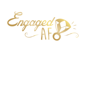 Engaged Af Faux Goldfolien Design - Verlobter