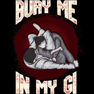 BJJ begrabe mich in meinem Kämpfer Gi MMA Brazil Jiu Jitsu
