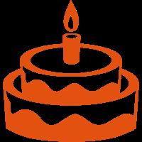 Geburtstagstorte Kerze 1401