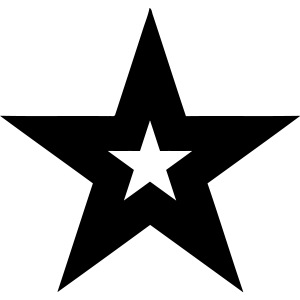 Cool black magic star