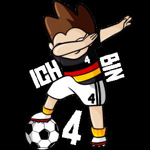 Dabbing Fußball 4. Geburtstag Jungen
