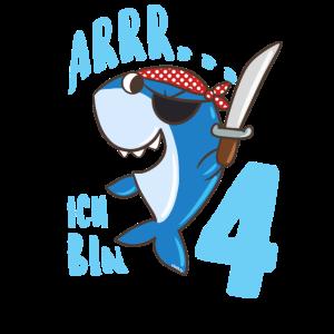 Hai Pirat 4. Geburtstag Jungen