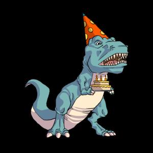 Geburtstag Bday Dino Dinosaurier T-Rex Trex