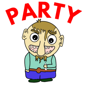 Party Penner Comicfigur
