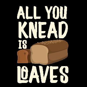Cooles alles, das Sie kneten, ist Laib-Bäckergeschenk