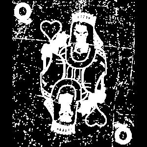 Königin Halloween Spielkarte Karte Kartenspiel