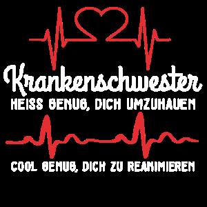 Krankenschwester Herzschlag Puls Lustiger Spruch