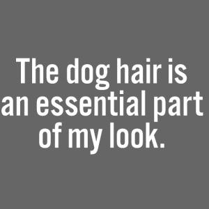 The dog hair
