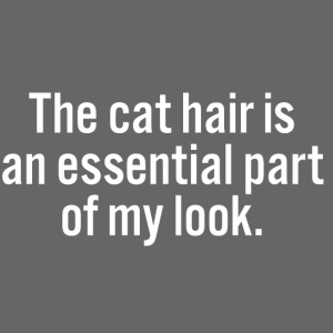 The cat hair