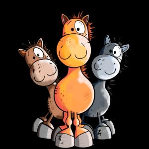 Süßes Pferde Trio
