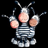Süßes Zebra Trio