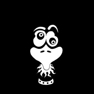 Spaßvogel - Comic Vogel, schräger Vogel, Vogel