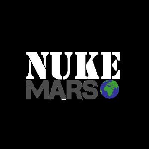 Nuke Mars lustiges Raum-Planeten-Shirt