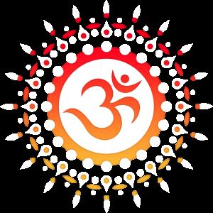 Om Sonne Mandala Spirituelles Yoga Mantra Symbol