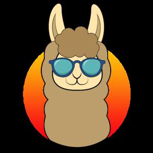 Lama Alpaka coole Tiere witziges Tier Tshirt