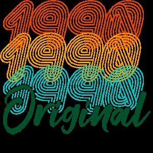 Vintage Retro 1990 Geboren Geburtstag Jahrgang