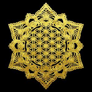 Blume des Lebens Heilige Geometrie in Gold