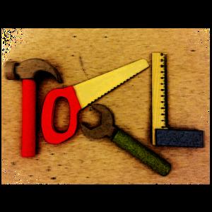 Hammer Werkzeug Tool Design für dunkle Farben