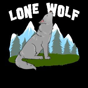 Einsamer Wolf Wildnis Natur Wanderer Wandern