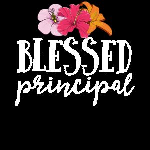 Gesegneter Hauptt-shirt Lehrer Floral Flowers