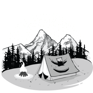 Camping Noob, Newbie, Tent, Mountain, Campfire