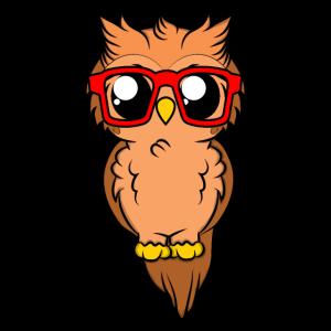 Owl with sunglasses Geschenkidde für Eulen fans