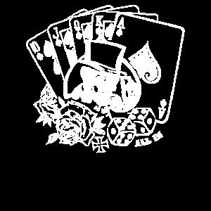 Skull Poker Rockabilly