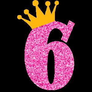 6. Geburtstag Sechs Jahre Alt Geburtstagskind