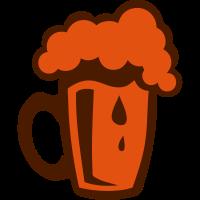 Alkohol Zeichnung Glasbier schaum 2022