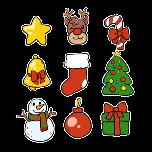 Cartoon Xmas Weihnachts Sammlung Advent Weihnacht