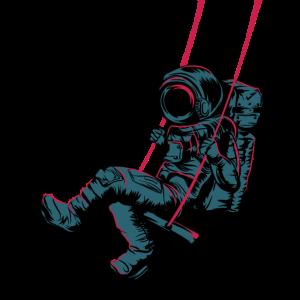 Astronaut im Weltraum Mond Universum Geschenk