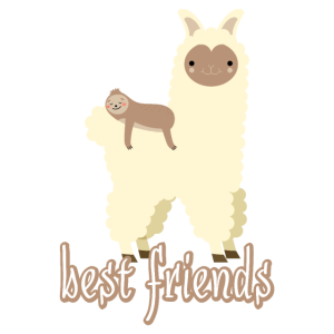 ALPACA SLOTH best friends