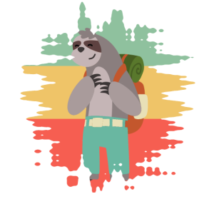 Sloth Faultier Rucksack