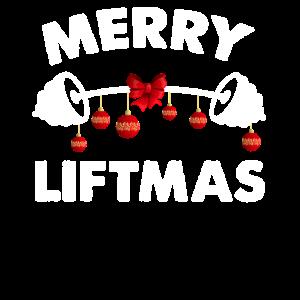 Merry Liftmas Gewichte heben Stark Weihnachten