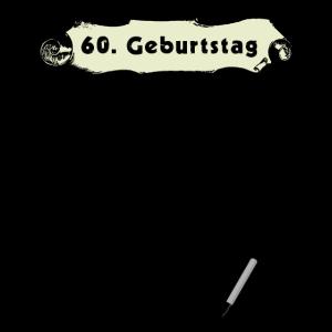 60. Geburtstag Gästeliste zum Unterschreiben
